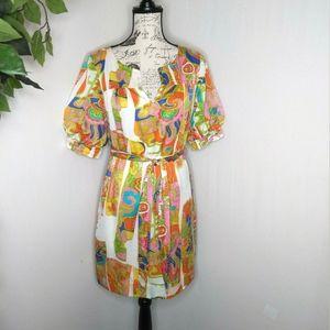 Trina Turk 1960's style mod shift dress